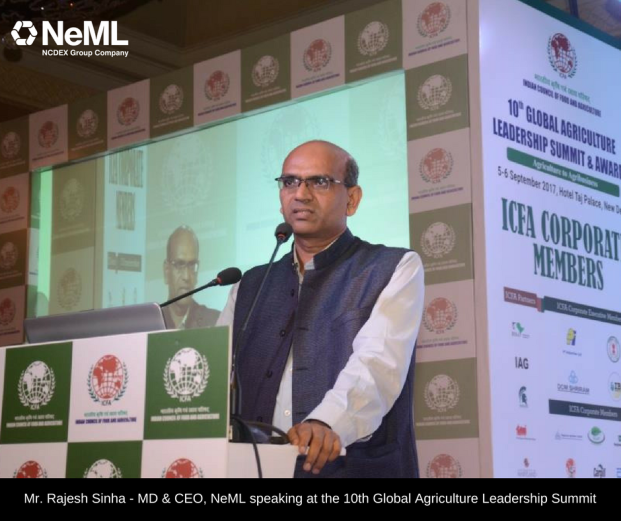 Mr. Rajesh Sinha - MD & CEO, NeML speaking at the 10th Global Agriculture Leadership Summit (1)